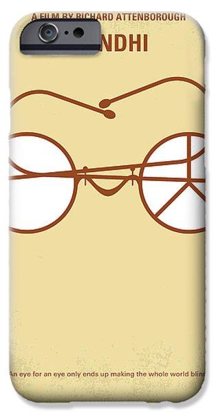 No543 My Gandhi Minimal Movie Poster IPhone Case by Chungkong Art