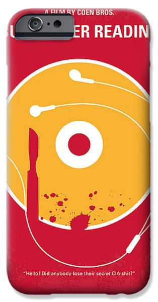 No547 My Burn After Reading Minimal Movie Poster IPhone Case by Chungkong Art