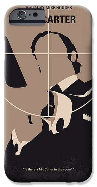 No557 My Get Carter Minimal Movie Poster IPhone Case by Chungkong Art
