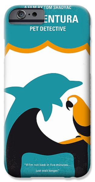 No558 My Ace Ventura Minimal Movie Poster IPhone Case by Chungkong Art