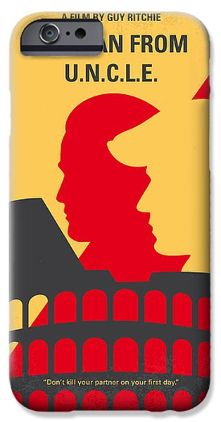 No572 My Man From Uncle Minimal Movie Poster IPhone Case by Chungkong Art