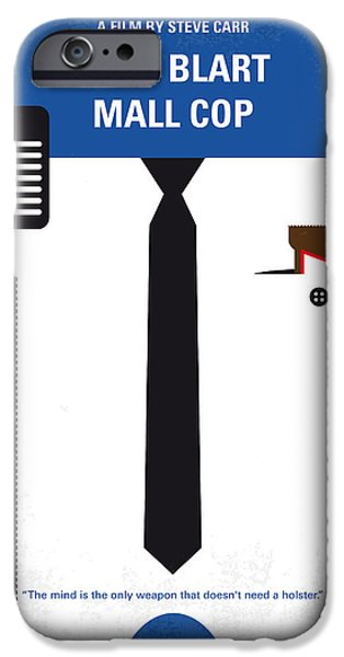 No579 My Paul Blart Mall Cop Minimal Movie Poster IPhone Case by Chungkong Art