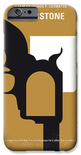 No596 My Tombstone Minimal Movie Poster IPhone Case by Chungkong Art