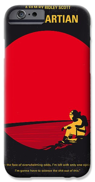 No620 My The Martian Minimal Movie Poster IPhone Case by Chungkong Art