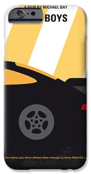 No627 My Bad Boys Minimal Movie Poster IPhone Case by Chungkong Art