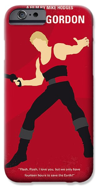 No632 My Flash Gordon Minimal Movie Poster IPhone Case by Chungkong Art