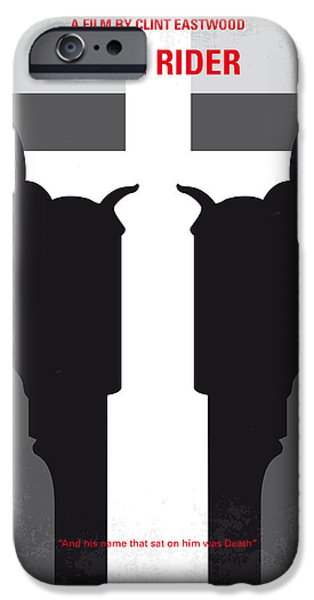 No640 My Pale Rider Minimal Movie Poster IPhone Case by Chungkong Art
