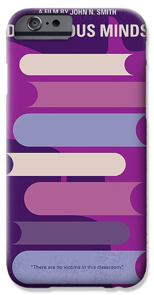 No655 My Dangerous Minds Minimal Movie Poster IPhone Case by Chungkong Art