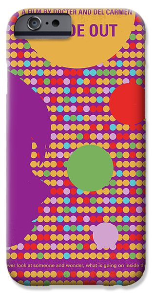 No664 My Inside Out Minimal Movie Poster IPhone Case by Chungkong Art
