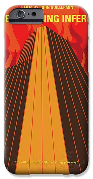 No665 My The Towering Inferno Minimal Movie Poster IPhone Case by Chungkong Art