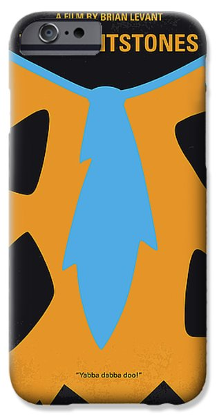 No669 My The Flintstones Minimal Movie Poster IPhone Case by Chungkong Art