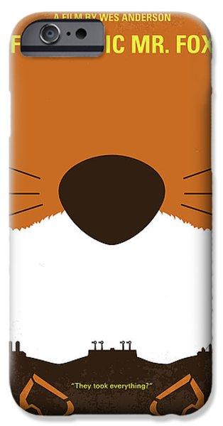 No673 My Fantastic Mr Fox Minimal Movie Poster IPhone Case by Chungkong Art