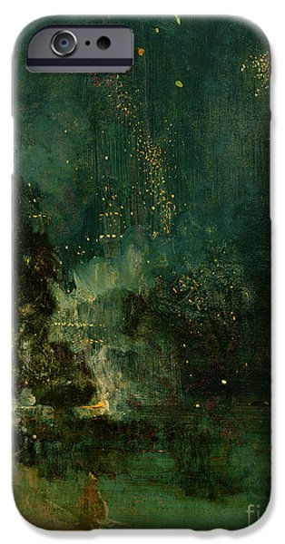 Nocturne In Black And Gold - The Falling Rocket IPhone Case by James Abbott McNeill Whistler