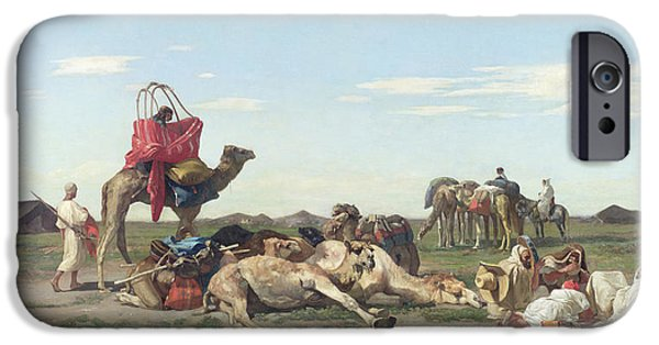 Nomads In The Desert IPhone Case by Georges Washington