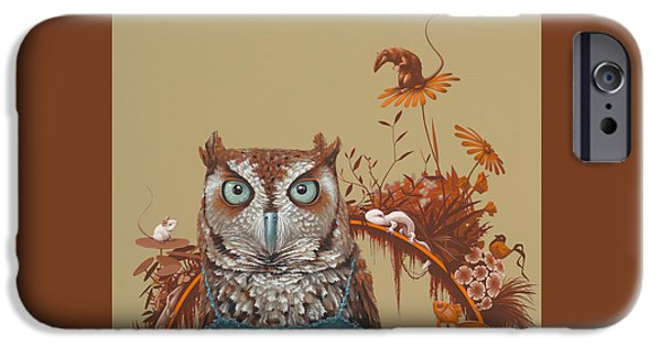 Northern Screech Owl IPhone Case by Jasper Oostland
