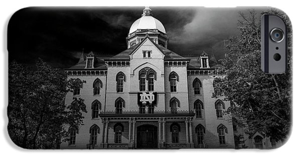Notre Dame University Black White 3a IPhone 6s Case by David Haskett