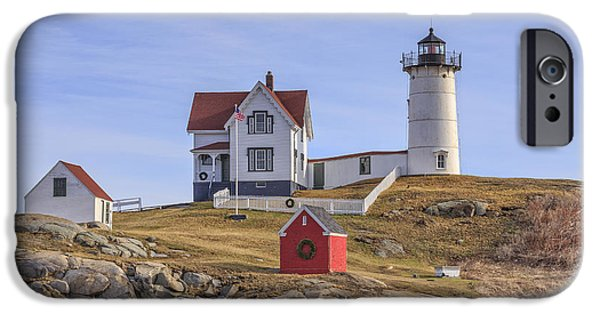 Nubble Lighthouse York Maine IPhone Case by Edward Fielding