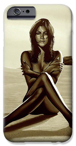 Nude Beach Beauty Sepia IPhone Case by Paul Meijering