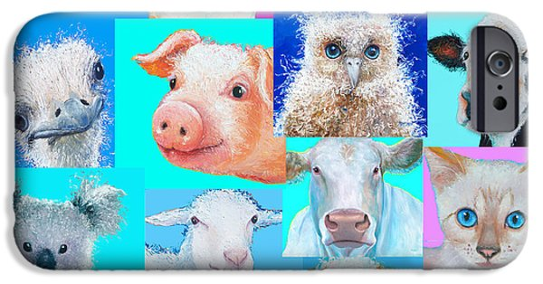 Nursery Wall Art - Collage Of Animals IPhone 6s Case by Jan Matson