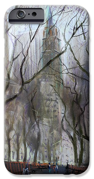 Nyc Central Park 1995 IPhone Case by Ylli Haruni