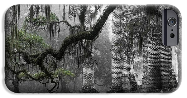 Oak Limb At Old Sheldon Church IPhone Case by Scott Hansen