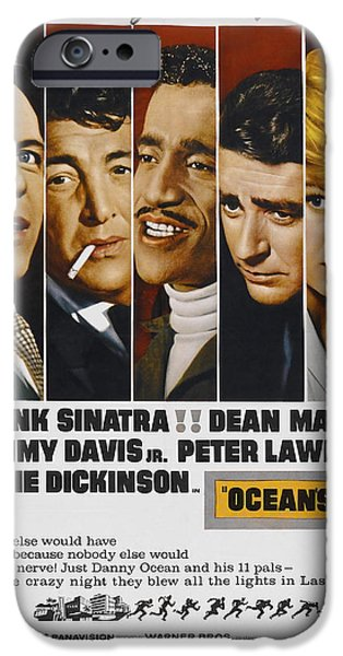 Ocean's 11 Movie Lobby Poster  1960 IPhone Case by Daniel Hagerman