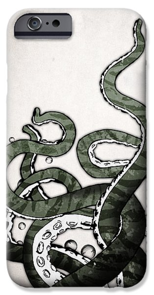 Octopus Tentacles IPhone Case by Nicklas Gustafsson