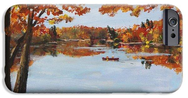 October Morn At Walden Pond IPhone Case by Jack Skinner