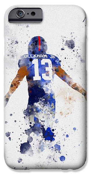 Odell Beckham Jr IPhone Case by Rebecca Jenkins