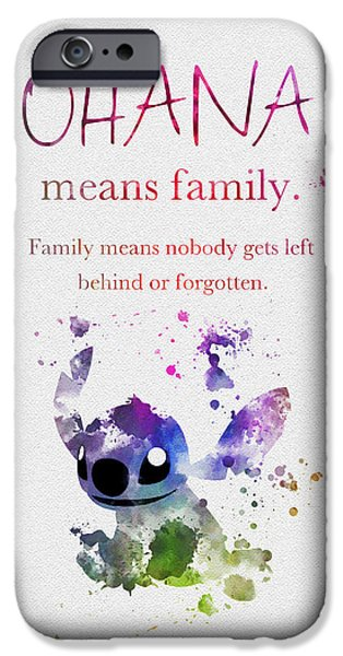 Ohana Means Family 3 IPhone Case by Rebecca Jenkins