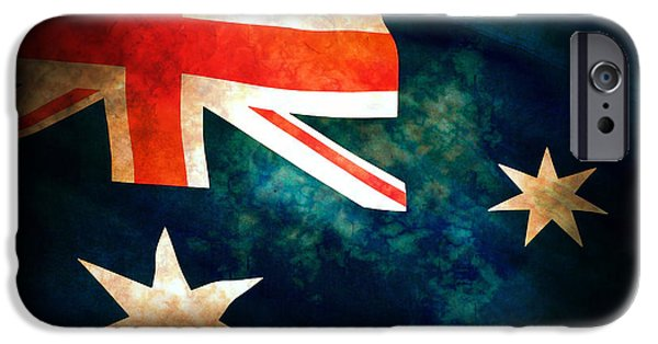 Old Australian Flag IPhone Case by Phill Petrovic