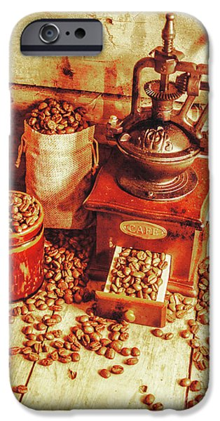 Old Bean Mill Decor. Kitchen Art IPhone Case by Jorgo Photography - Wall Art Gallery