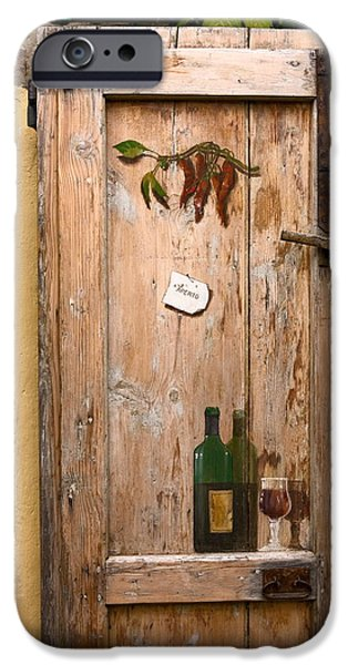Old Door And Wine IPhone Case by Sally Weigand