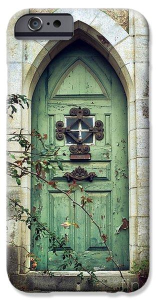 Old Gothic Door IPhone Case by Carlos Caetano