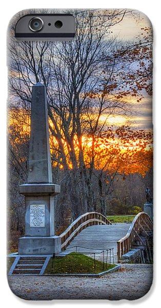 Old North Bridge - Concord Ma IPhone Case by Joann Vitali