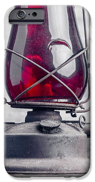 Old Red Hurricane Lantern Still Life IPhone Case by Edward Fielding