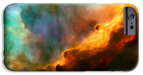 Omega Swan Nebula 3 IPhone Case by The  Vault - Jennifer Rondinelli Reilly