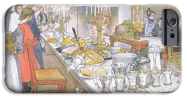 On Christmas Eve IPhone Case by Carl Larsson