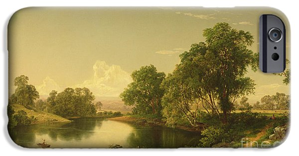 On The Esopus Creek, Ulster County, Ny IPhone Case by David Johnson