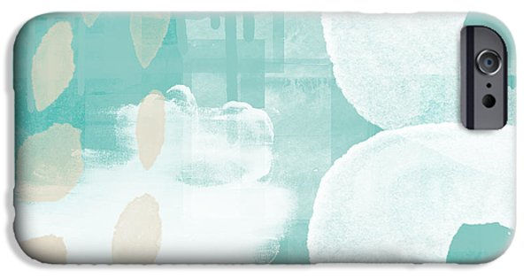 On The Shore- Abstract Painting IPhone Case by Linda Woods