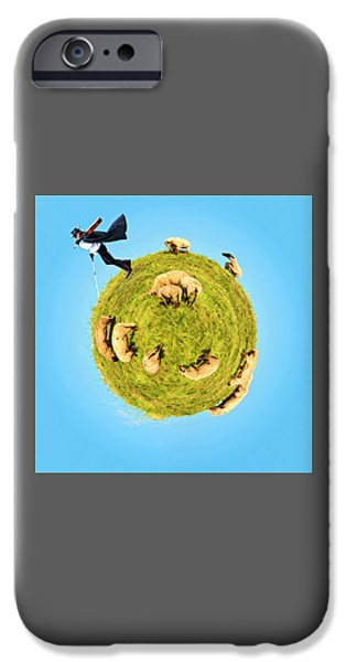 Only One Black Sheep? IPhone Case by Rolando Ruffinengo