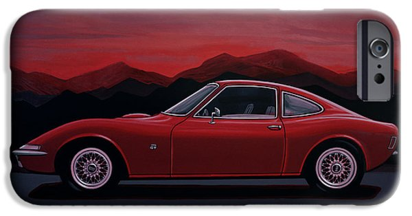 Opel Gt 1969 Painting IPhone Case by Paul Meijering