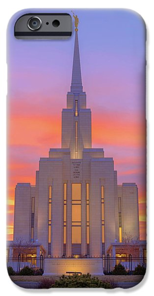 Oquirrh Mountain Temple IIi IPhone Case by Chad Dutson