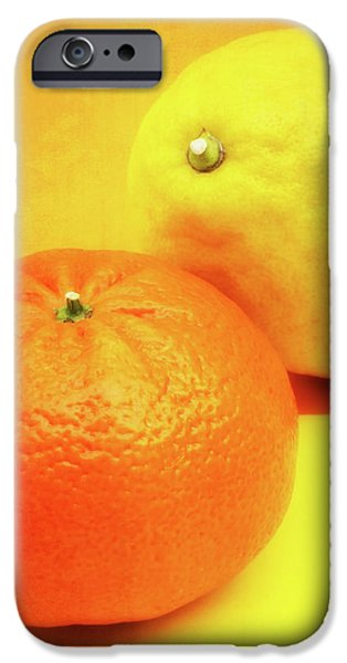 Orange And Lemon IPhone Case by Wim Lanclus