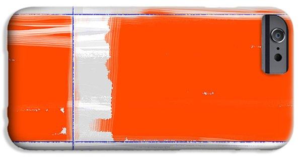 Orange Rectangle IPhone Case by Naxart Studio
