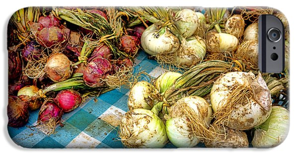 Organic Onions At A Farm Market IPhone Case by Olivier Le Queinec