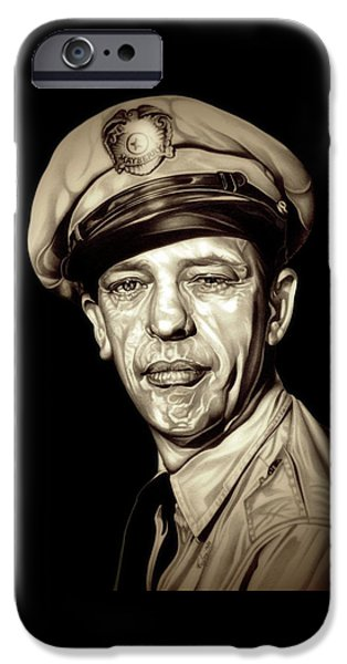 Original Barney Fife IPhone Case by Fred Larucci
