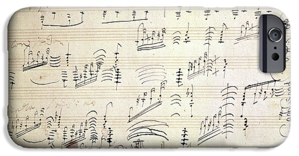 Original Score Of Beethoven's Moonlight Sonata IPhone Case by Beethoven