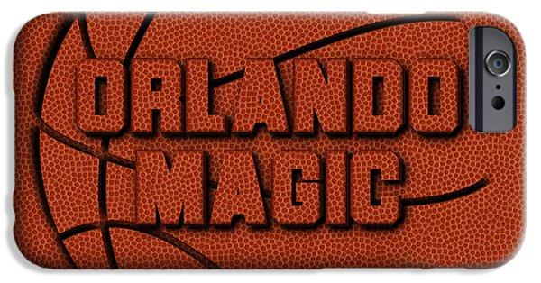 Orlando Magic Leather Art IPhone Case by Joe Hamilton