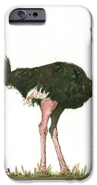 Ostrich Bird IPhone 6s Case by Juan Bosco